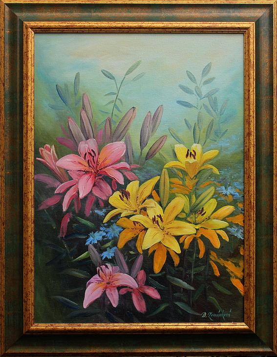 Obraz - V květu lilií II.
